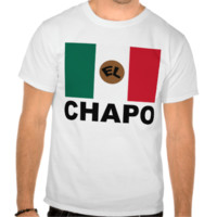 El Chapo Mexican flag T-shirts