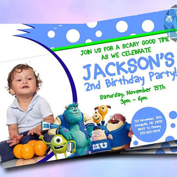 Monster University Design For Birthday Invitation on SaphireInvitations