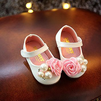 Diamond Baby Sandals Girls Sandals Spring And Autumn Pearl Children's Shoes Baby Toddler Shoes Princess Shoes
