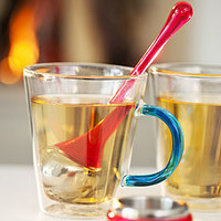 Tea Infuser With Holder Pink