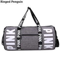 Ringed Penguin Travel Luggage Duffle  Bag Travel Luggage Lightweight for Vacation