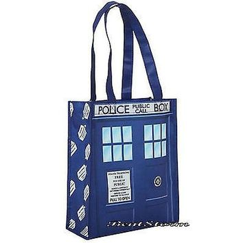 Licensed cool BBC Doctor Dr Who I am Tardis Police  Box Reusable ECO Shopper Tote Gift Bag
