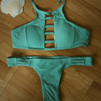 Army Green Bikini Set