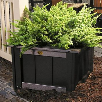 LuxCraft Recycled Plastic Square Planter