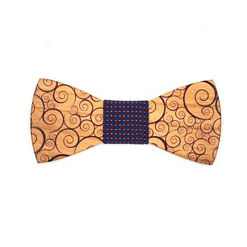 Classic Floral Handmade Wooden Bow Tie For Mens Suits Wedding Necktie Gravata Solid Wood Bow Ties Men Party Cravat