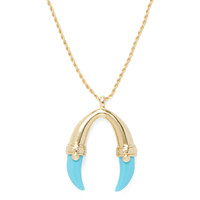 Kenneth Jay Lane Women's Turquoise Claw Pendant Necklace
