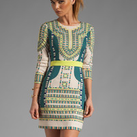 BCBGMAXAZRIA Runway Odette Embroidery Dress in Vanilla Combo from REVOLVEclothing.com