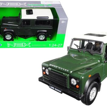 Land Rover Defender Green 1:24 - 1:27 Diecast Model Car by Welly
