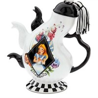 Disney Parks Alice in Wonderland Mad Hatter Triple Spout Ceramic Tea Pot NEW