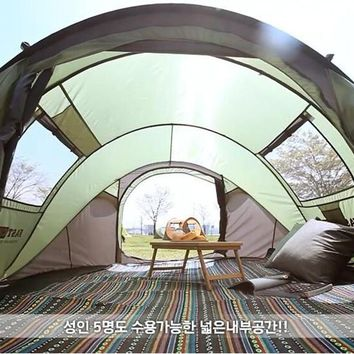 5-6 person automatic pop up huge party family outdoor camping tent