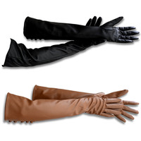 New Style Gloves PU Leather Gloves Women's Winter Leather  Glove