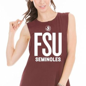 Official NCAA Florida State University Seminoles FSU Noles Women's Muscle T-Shirt