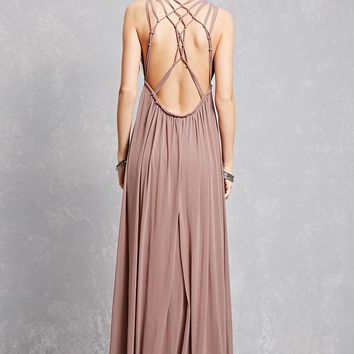 Plunging Caged Maxi Dress