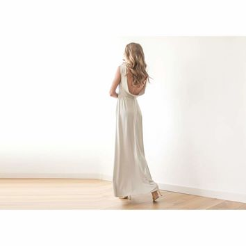 Backless Off White maxi dress