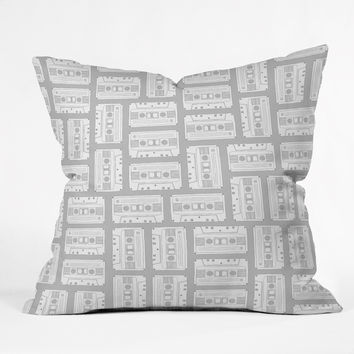 Bianca Green Tape It Grey Throw Pillow