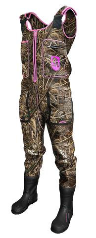 womens max 5 camo amp pink gator waders from extremesnorke