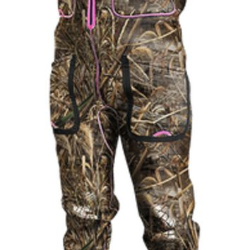 Women's Max 5 Camo & Pink Gator Waders with Front Zipper
