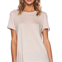 Vince Textured Block Tee in Blush