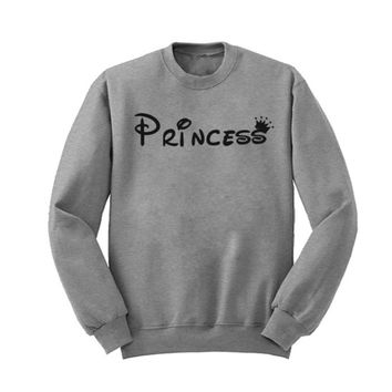Princess Printed Sweatshirts Men Women With Cute Japan And South Korea Velvet Thick Coat Street Rebellious Hippie Wind