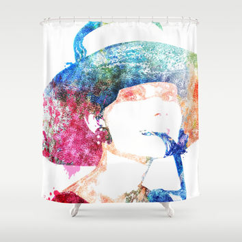 Breakfast at Tiffany's - Audrey Hepburn Shower Curtain by Heaven7