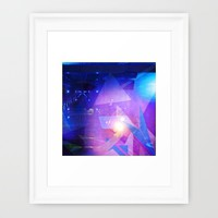 Abstract purple Triangles Framed Art Print by Christine Aka Stine1