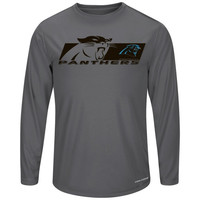 Carolina Panthers Majestic Short Yardage VI Long Sleeve T-Shirt – Gray