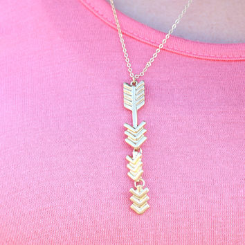 Follow the Arrow Necklace {Gold}