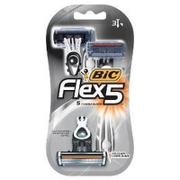 BIC Flex 5 Five Blade Disposable Razor for Men - 3ct