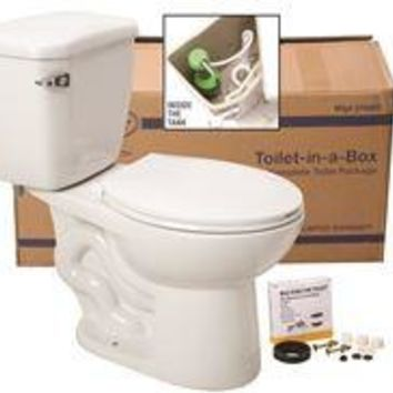 PREMIER® TOILET-IN-A BOX WITH ROUND BOWL, 1.6 GPF, WHITE