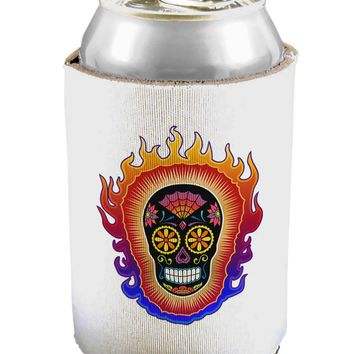 Sacred Calavera Day of the Dead Sugar Skull Can / Bottle Insulator Coolers