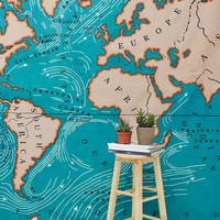 Map Print Tapestry - Urban Outfitters