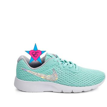 Crystal Aqua NIKE Girls Tanjun | 3.5 - 7
