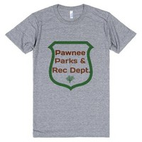 Pawnee Parks and Rec Department-Unisex Athletic Grey T-Shirt