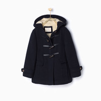 FLEECE DUFFLE COAT