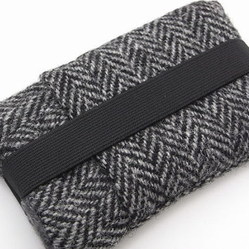 iphone 4  cover / iphone case / Harris Tweed Gray by pomella