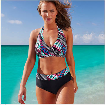 Swimsuit Sexy Hot Summer New Arrival Beach Print Plus Size Swimwear Women's Fashion Bikini [7767318855]