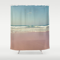 Sea waves 5 Shower Curtain by vanessagf