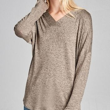 Taupe Two-Tone Top