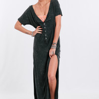 Paradise City Maxi Dress In Navy