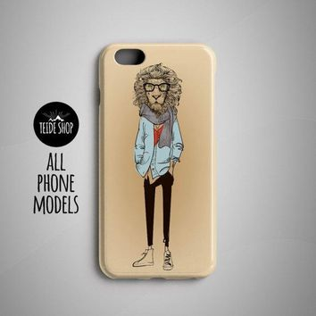 Lion Fashion iPhone 7 Case iPhone 8 Plus Case iPhone 8 Case iPhone 5S Case iPhone 6S Case iPhone 7 Plus Case Phone Hipster Animal Painting