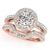 Rachelle Round Moissanite Under Bezel Engagement Ring