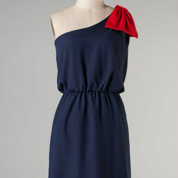 Game Prize Dress -- Navy/Red