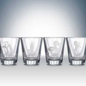 Harry Potter House Logos Shotglass Set