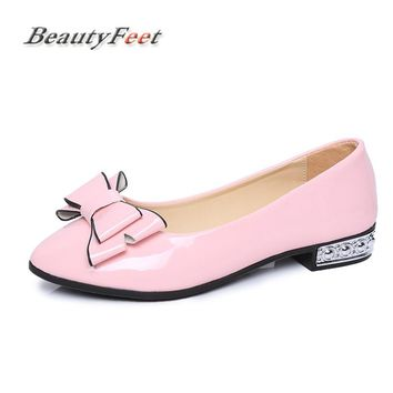 BeautyFeet Patent Leather Flats Women Flat Shoes Brand Woman Ballet Soft Heel Ballerina Flats Winter Warm Suede Lady Loafers