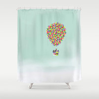 Up Shower Curtain by Derek Temple