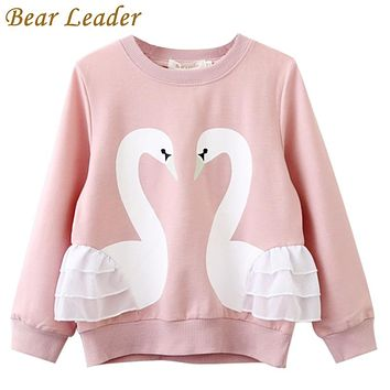 Girls T-Shirt Baby Girls Full T-Shirt Cute Cartoon Bird Lace Shirts Children Clothing Blouse
