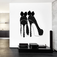 Wall Decals Fashion High Heel Shoes Vinyl Sticker z3264