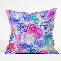 Holly Sharpe Rose Garden 02 Throw Pillow