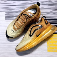 DCCK2 N1188 Nike Air Max 720 Carbon Grey Fashion Sport Running Shoes Yellow Black
