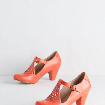 Vintage Inspired Picture of Poetic Heel in Tangerine